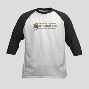 God Created Burmeses Kids Baseball Jersey