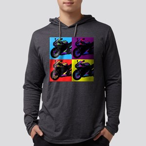 Artsy Colorful Sportbike Long Sleeve T-Shirt