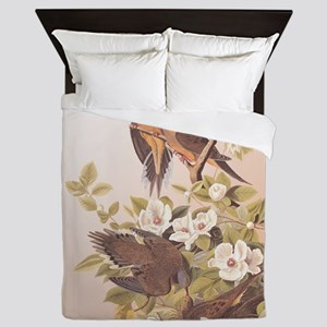 Audubon Carolina Turtle Dove Design Queen Duvet