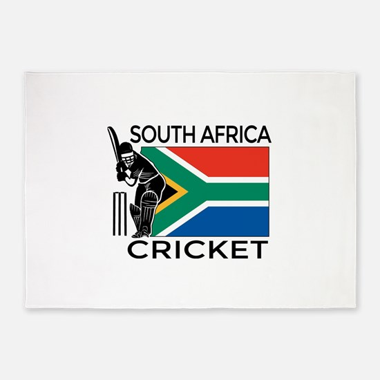 south africa cricket & 5'x7'Area Rug