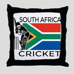 south africa cricket & Throw Pillow