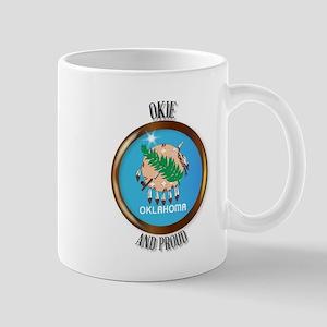 Oklahoma Proud Flag Button Mugs