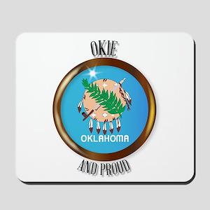 Oklahoma Proud Flag Button Mousepad
