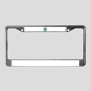 Oklahoma Proud Flag Button License Plate Frame
