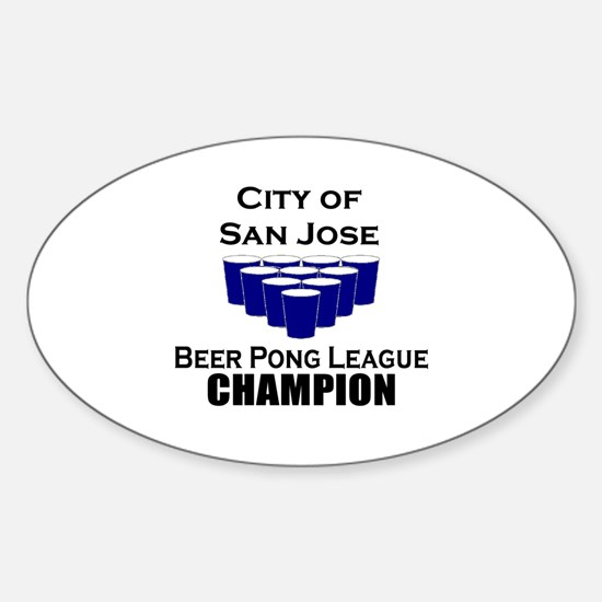 City of San Jose Beer Pong Le Oval Decal