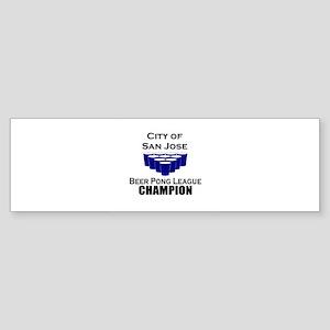 City of San Jose Beer Pong Le Bumper Sticker