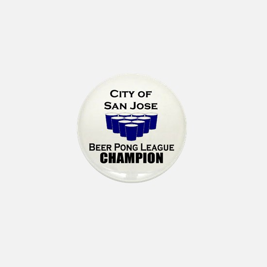 City of San Jose Beer Pong Le Mini Button