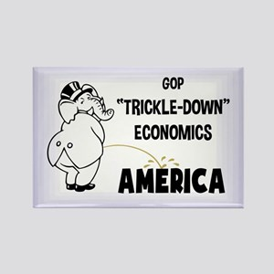 Trickle Down 1217 Rectangle Magnet