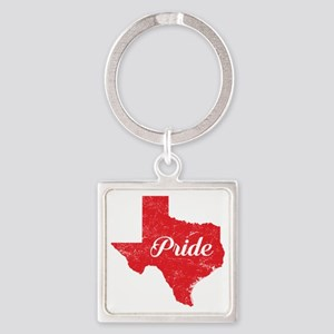 Texas Pride Square Keychain