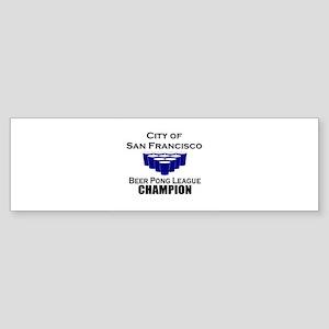City of San Francisco Beer Po Bumper Sticker