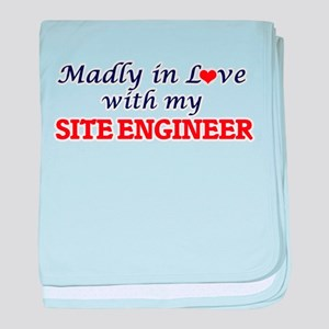 Madly in love with my Site Engineer baby blanket