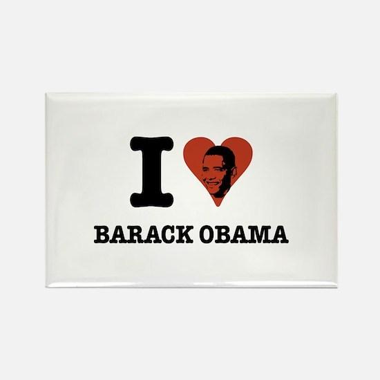 I Love Barack Obama (face) Rectangle Magnet