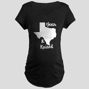 Texas - Born & Raised Maternity Dark T-Shirt