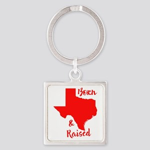 Texas - Born & Raised Square Keychain
