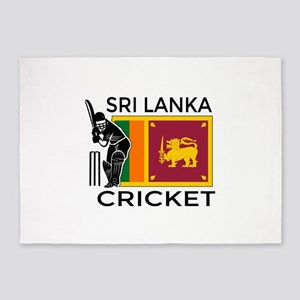 Sri Lanka Cricket 5'x7'Area Rug