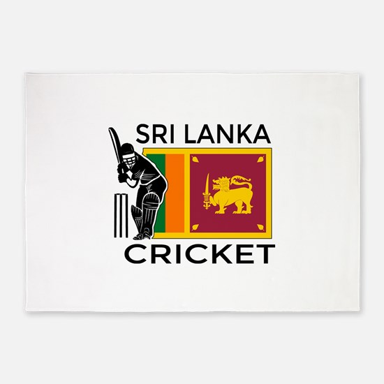 Sri Lanka Cricket 5'x7'Area Rug