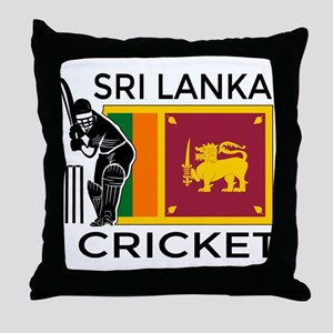 Sri Lanka Cricket Throw Pillow