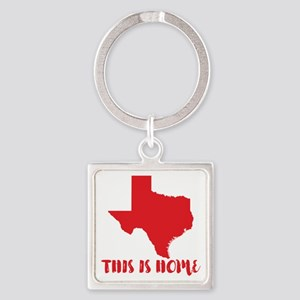 Texas - This Is Home Square Keychain