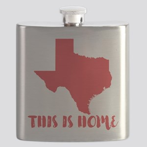 Texas - This Is Home Flask