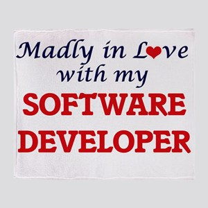 Madly in love with my Software Devel Throw Blanket