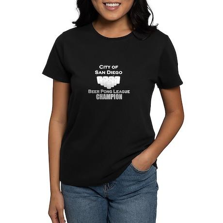 City of San Diego Beer Pong L Women's Dark T-Shirt
