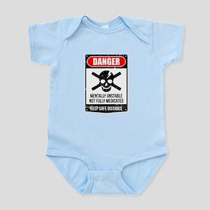 Danger Mentally Unstable Not Fully Medic Body Suit