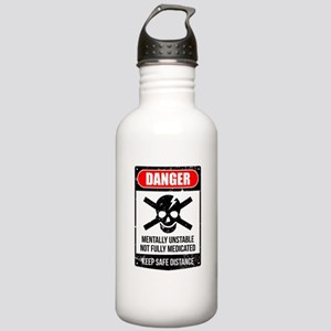 Danger Mentally Unstab Stainless Water Bottle 1.0L