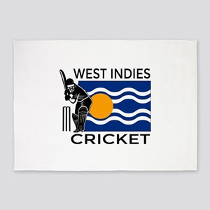 West Indies Cricket 5'x7'Area Rug