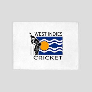 West Indies Cricket 5'x7'Area Rug