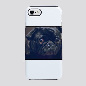 Black Pug iPhone 8/7 Tough Case