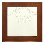Stegosaurus Framed Tile