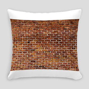 Brick Wall Fresco Art Everyday Pillow