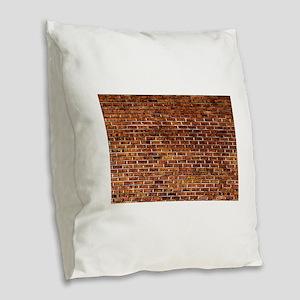 Brick Wall Fresco Art Burlap Throw Pillow