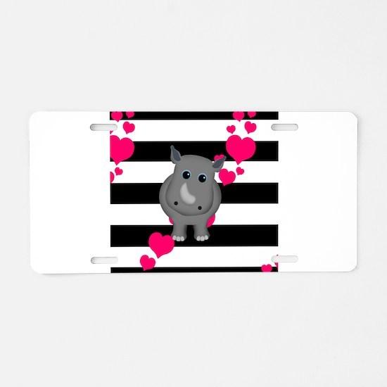 Rhino Baby Aluminum License Plate