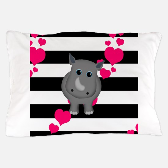 Rhino Baby Pillow Case