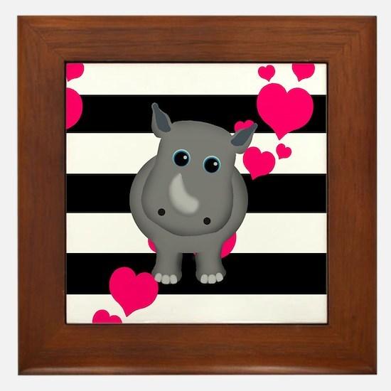Rhino Baby Framed Tile