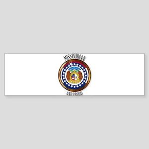 Missouri Proud Flag Button Bumper Sticker