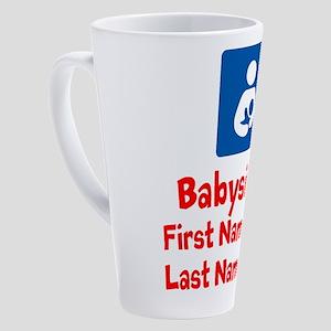 Babysitter 17 oz Latte Mug
