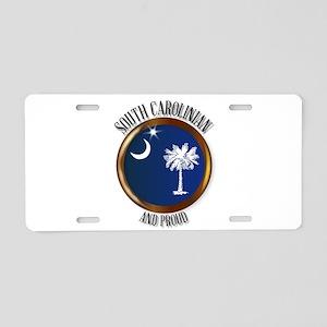South Carolina Proud Flag B Aluminum License Plate