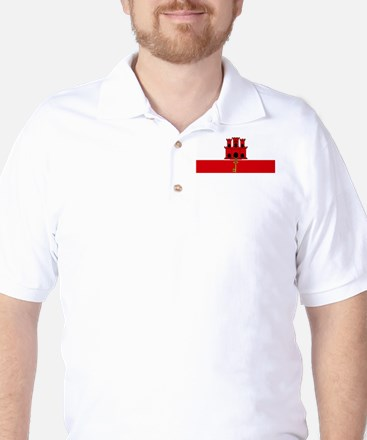 Flag Of Gibraltar Golf Shirt
