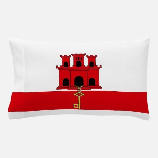 Flag Of Gibraltar Pillow Case