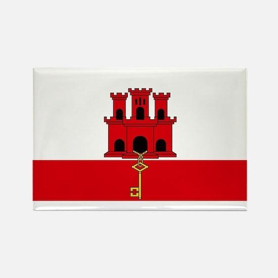 Flag Of Gibraltar Magnets