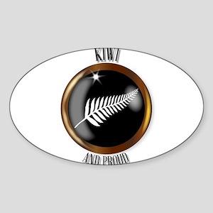 New Zealand Proud Flag Button Sticker