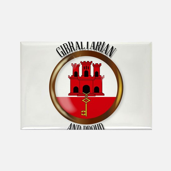 Gibraltar Proud Flag Button Magnets