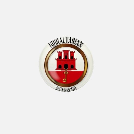 Gibraltar Proud Flag Button Mini Button