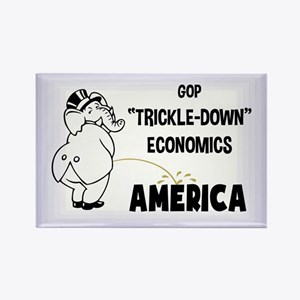 Trickle Down 1217 Rectangle Magnet (100 pack)