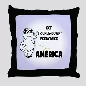 Trickle Down 1217 Throw Pillow