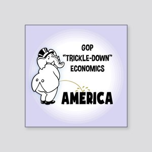 "Trickle Down 1217 Square Sticker 3"" x 3"""
