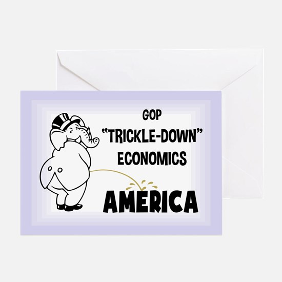 Trickle Down 1217 Greeting Card
