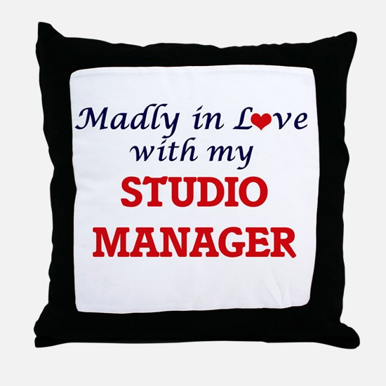 Madly in love with my Studio Manager Throw Pillow